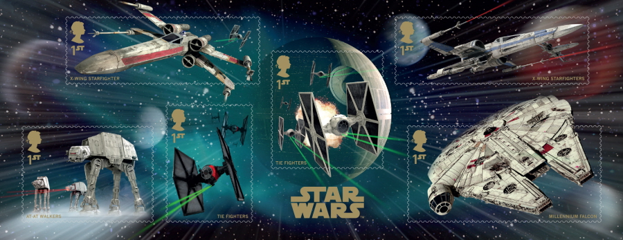MS3770 2015 Star Wars Royal Mail Non-Barcoded Miniature Sheet